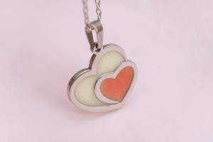 colgante double heart